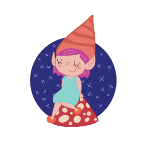 female gnome cartoon