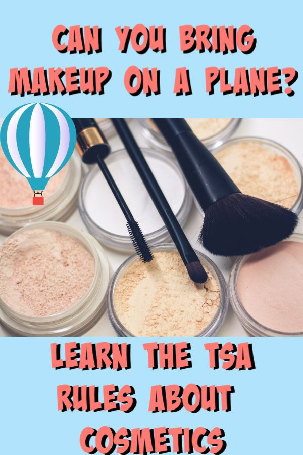 Can i bring makeup on a plane?