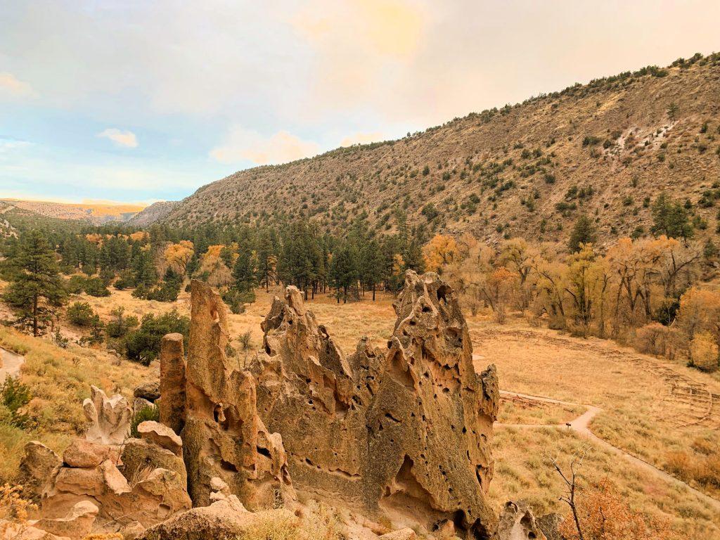rock formations at bandelier national park
