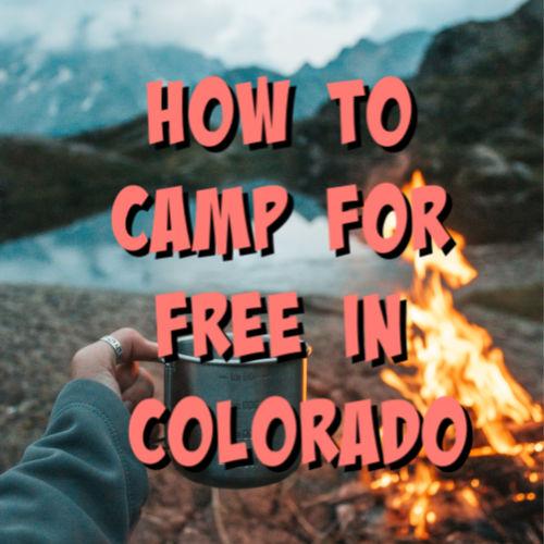 free camping colorado