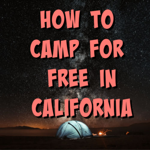 free camping california