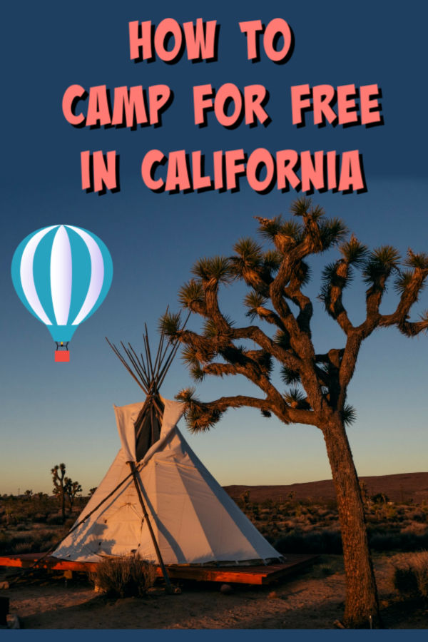 free camping in california