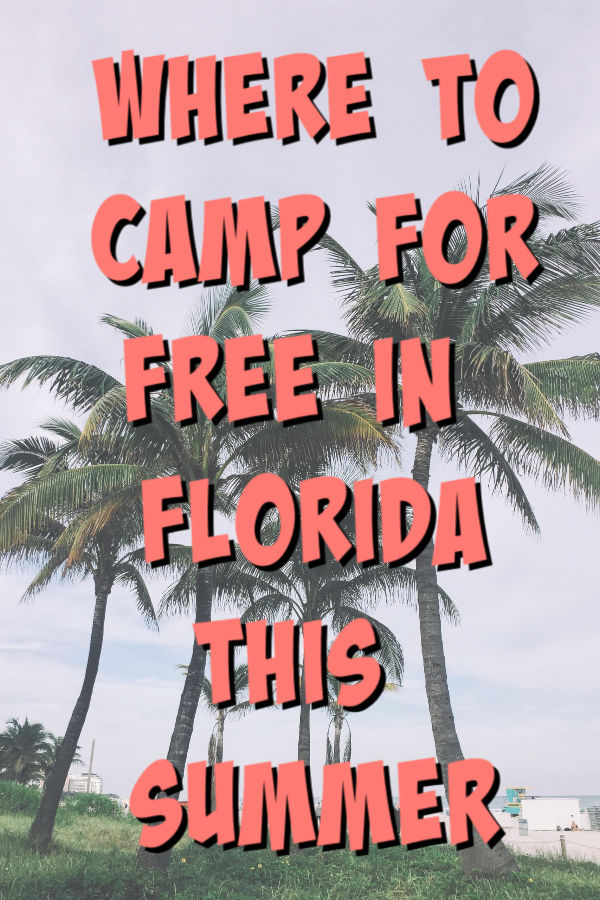 free camping in florida text