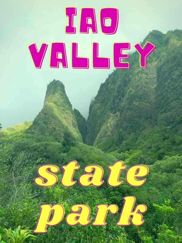 Iao Valley state park. View of the Iao Needle.