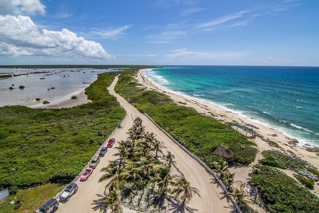 beach and ocean in Cozumel