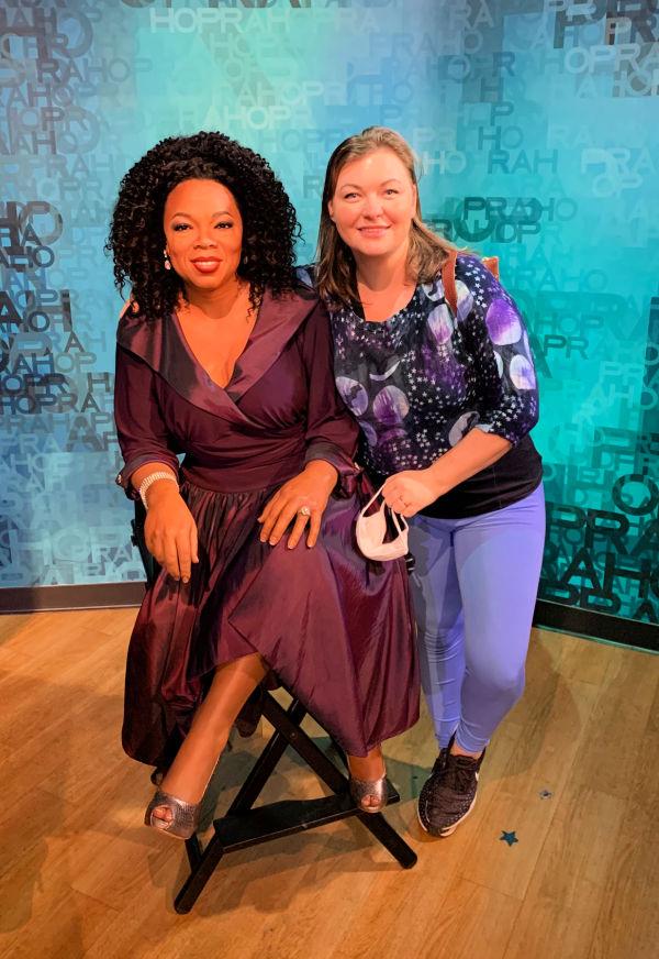 oprah wax figure at madame tussauds Orlando.