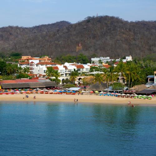 Beach view in Huatulco