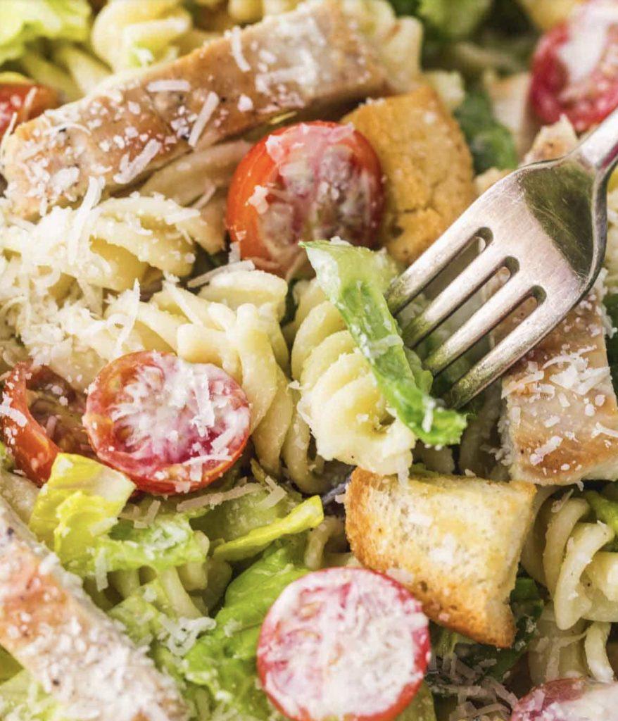 Cesar pasta salad.