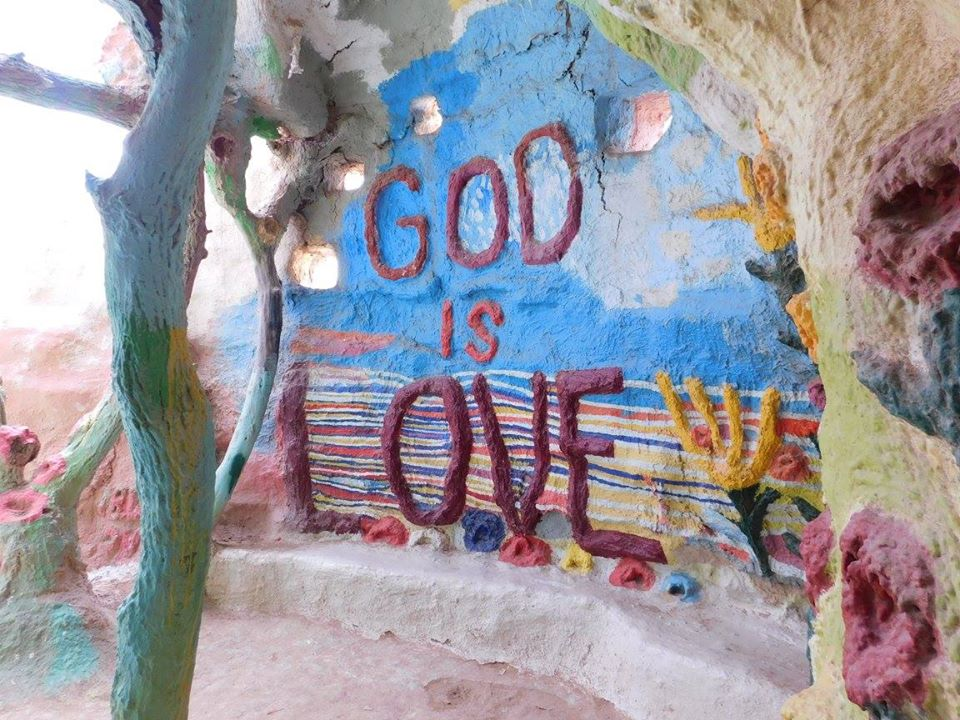 Art inside Salvation Mountain.