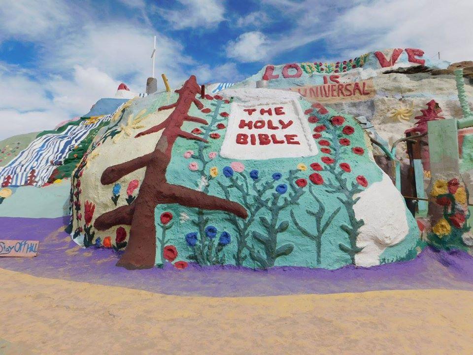 Painted folk art on Salvation Mountain.