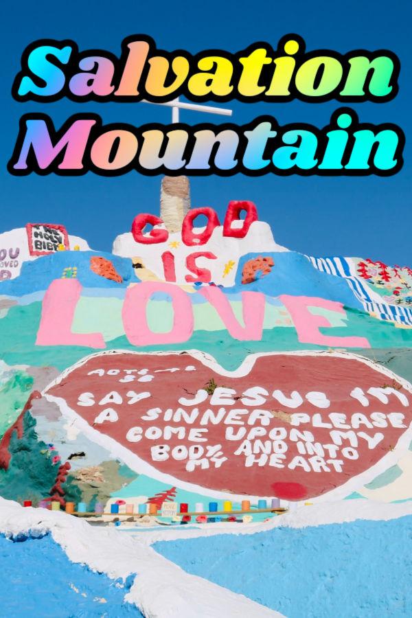 Salvation mountain California image graphic