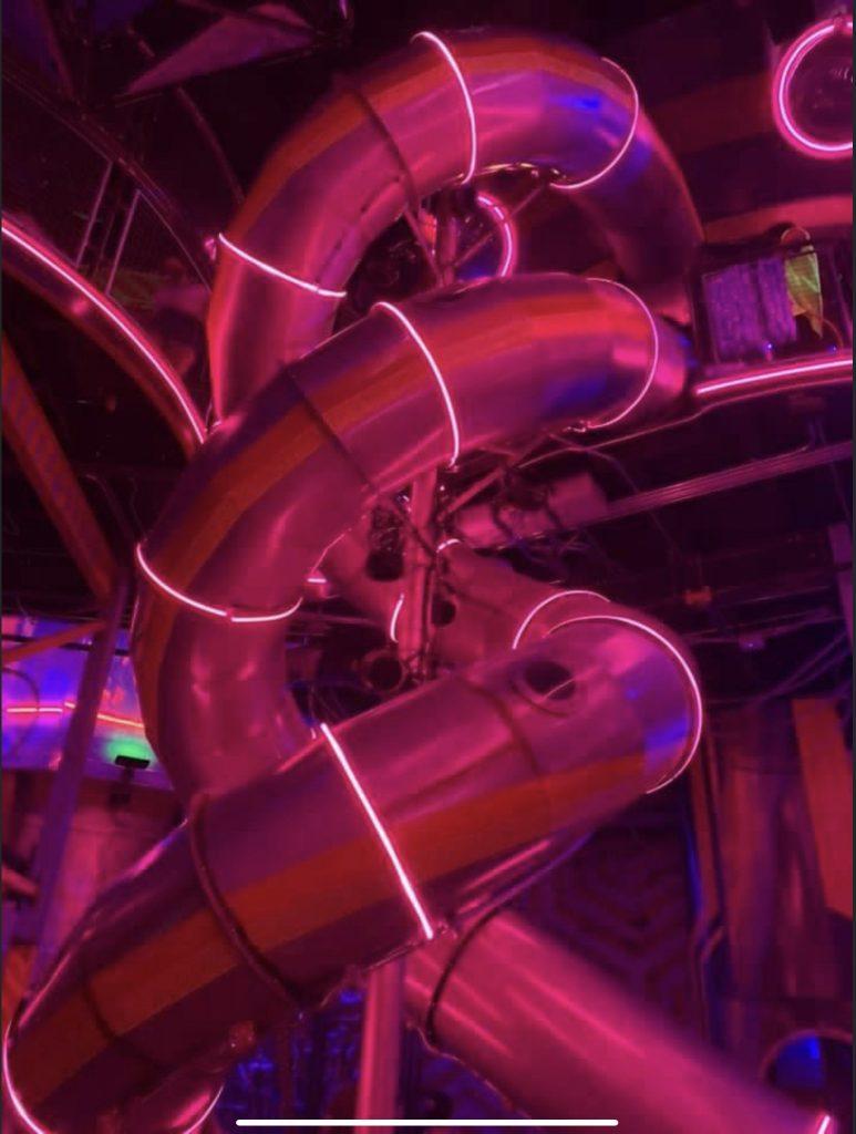 Slide at Omega Mart Las Vegas.
