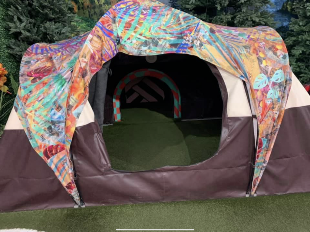 The tent is a portal to the other realm.